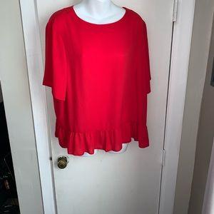 ASOS Red Peplum Top-Size 14
